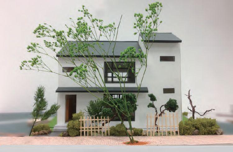 大きなリビングで暮らす家(模型)